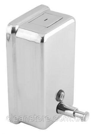 Дозатор жидкого мыла нержавейка глянцевая  1,2 л, фото 2