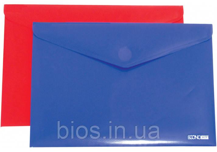 """Папка-конверт на липучці А4 180 мкм фактура """"діагональ"""""""