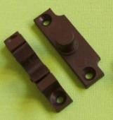 Защелка на дверную антимоскитную сетку для профиля 17х25 цвет коричневый