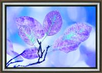 """Оригинальная картина """"Лиловое утро """" из кристаллов ручная работа"""