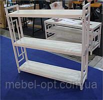 Стеллаж Квадро Лонг Лофт 3 полки, белый/Аляска, стиль Loft, Металл-Дизайн