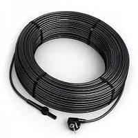 Нагревательный кабель двужильный Hemstedt DAS 120 Вт, 4 м со встроенным термостатом и вилкой