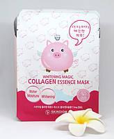 Корейская тканевая маска для лица для выравнивания тона с коллагеном SKINDIGM