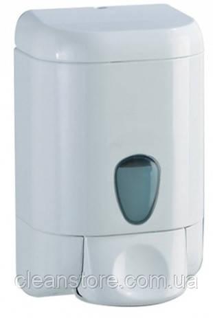 Дозатор жидкого мыла пластик белый, фото 2
