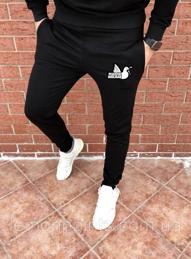 Мужские спортивные штаны, чоловічі спортивні штани Peaceful Hooligan H139 черные