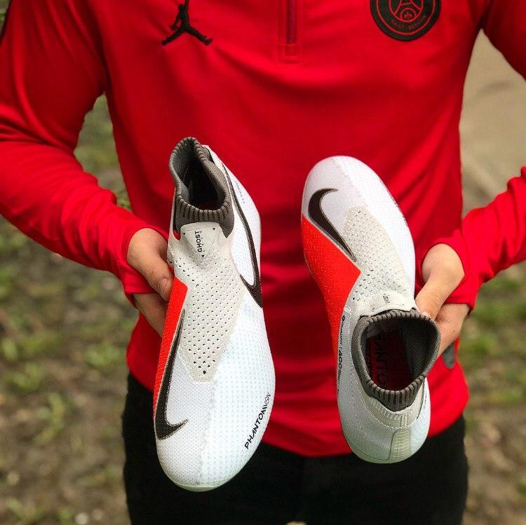 more photos 08049 36c32 Бутсы Nike Phantom Vision VSN - White Metallic Cool Grey Volt Metallic Cool
