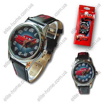 """Детские наручные часы """"Тачки (Молния МакКуин)"""" в подарочной упаковке (черный ремешок, 2 вида), фото 2"""