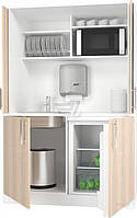 Кухня Смарт-Николь 1,2м с сист. pocket doors+столешница белый/дуб сонома (Грейд)
