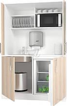 Кухня Смарт-Ніколь 1,2м с сист. pocket doors+стільниця білий/дуб сонома (Грейд)