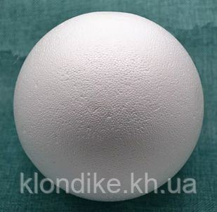 "Заготовка пенопластовая ""Шар"", 10 см, Цвет: Белый"
