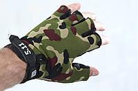 Тактические перчатки безпалые 5.11 Камуфляж, фото 1