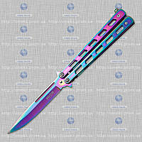 Нож бабочка (балисонг) Хамелеон радуга 1025 T MHR /87-5