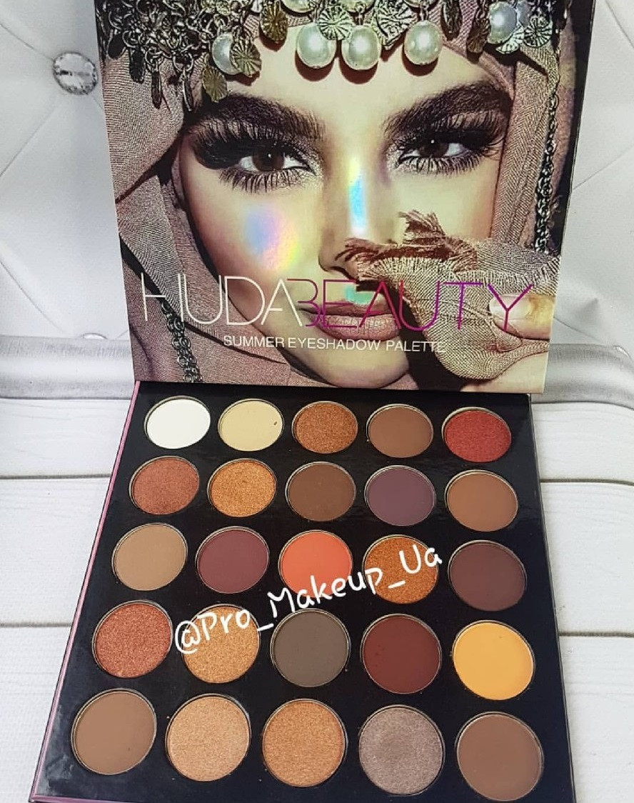 Тени для век Huda Beauty Summer Eyeshadow Palette 25 цветов