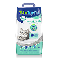 Наполнитель туалета для кошек Biokats Bianco Fresh 5 кг (бентонитовый)