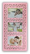 Фоторамка колаж рожева на 3 фото Розмір: 47х25х2,5 див.