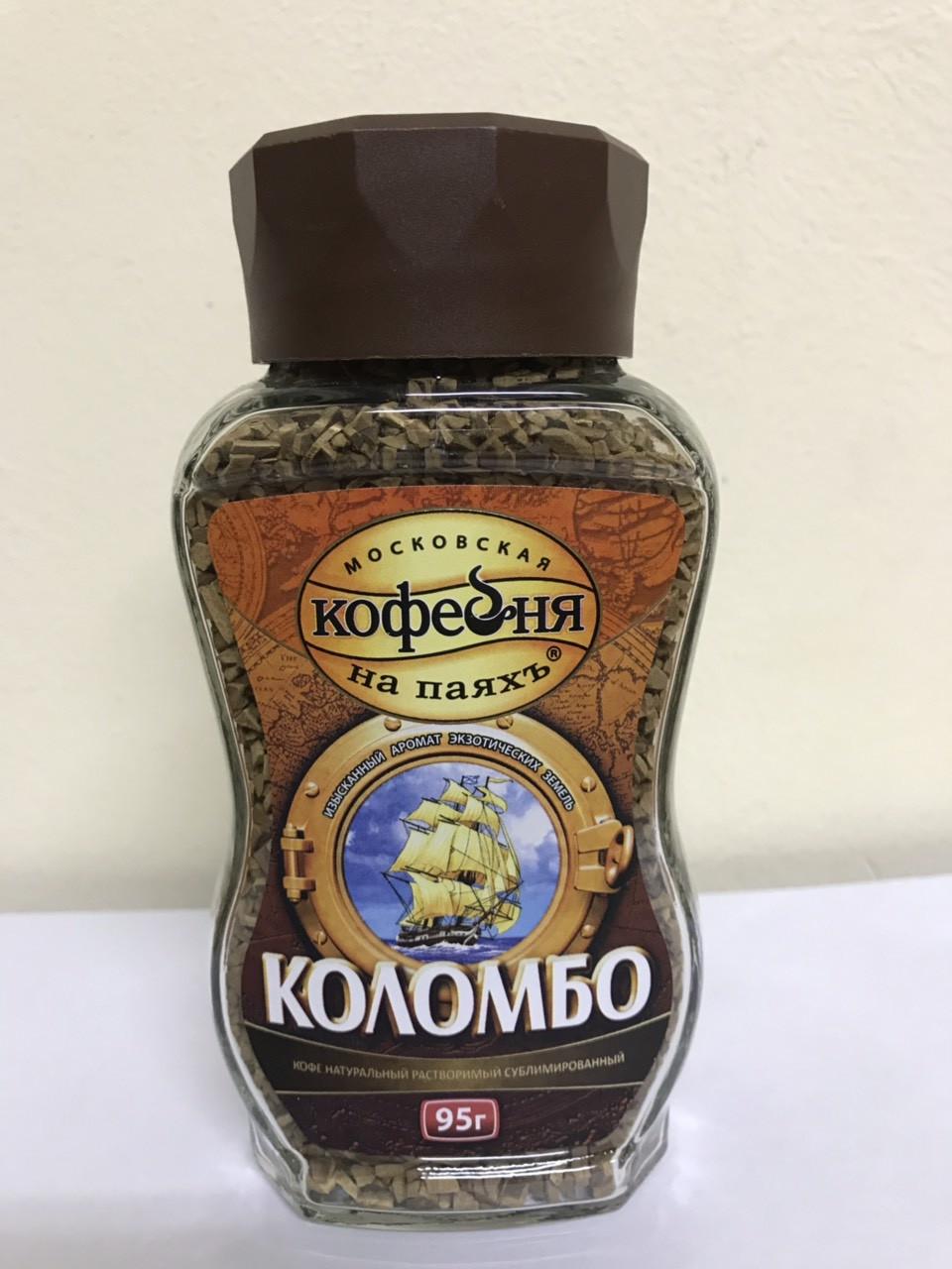 Кофе растворимый Коломбо Московская кофейня на паяхъ 95 гр.