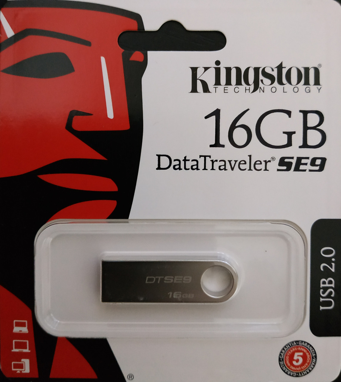 Флеш накопитель Kingston DataTraveler SE9 16 гб