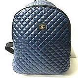Рюкзаки женские стёганные Chanel (серый)28*34см, фото 2
