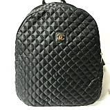 Рюкзаки женские стёганные Chanel (серый)28*34см, фото 3