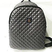 Рюкзаки женские стёганные Chanel (серый)28*34см