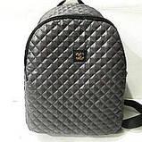 Рюкзаки женские стёганные Chanel (черный)28*34см, фото 5