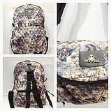 Рюкзак-сумка жіноча стьобаний Prada (принт синій)28*37см, фото 5