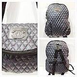 Рюкзак-сумка жіноча стьобаний Prada (чорний)28*37см, фото 2