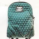 Рюкзак-сумка жіноча стьобаний Prada (чорний)28*37см, фото 4