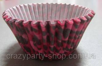 Форма для кексиков  розово-чёрная