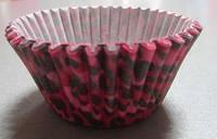 Форма для кексиков  розово-чёрная, фото 1