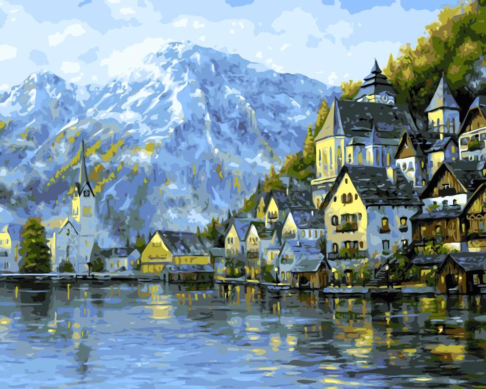 Художественный творческий набор, картина по номерам Прекрасная Австрия, 50x40 см, «Art Story» (AS0028)