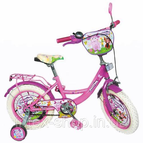 """Двухколесный детский велосипед 12"""" LT 0050-02 Лунтик (розовый)"""