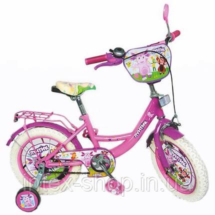 """Двухколесный детский велосипед 12"""" LT 0050-02 Лунтик (розовый), фото 2"""