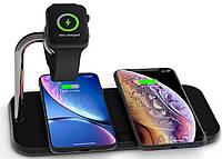 зарядное устройство Zens Dual Aluminium Wireless Charger + Apple Watch 10W Black (ZEDC05B/00)