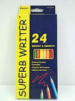 """Набор цветных карандашей 24 цвета """"SUPER WRITER"""" Marco 4100-24CB (1 пач)"""