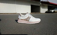 Стильные женские белые кожаные кроссовки 36-41 р-р, фото 1