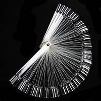 Палитра веерная на кольце  прозрачная, фото 1