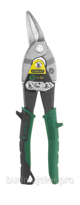 Ножиці Stanley по металу  Aviation Offset, праві 250 мм