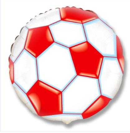 """Фол шар МИНИ-ФИГУРА 9"""" (22 см) Круг Футбольный мяч Красный (ФМ), фото 2"""