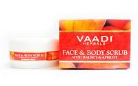 Скраб для лица и тела орех и абрикос, 90 гр, Vaadi Herbals Pvt. Ltd.
