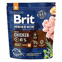 Сухой корм для взрослых собак средних пород (весом от 10 до 25 кг) Brit Premium Adult M 1 кг (курица)