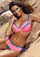 Купальник для большой груди M 473 BARBRA (75С-90H в расцветках) синий-розовый (col.5), 75 E/L