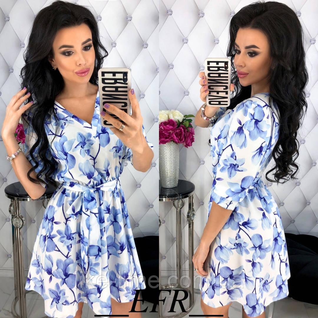 661a2d89a90 Женский сарафан в цветочный принт - Интернет-магазин Like Lime в Одессе