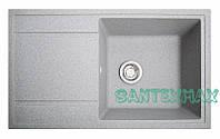 Кухонная гранитная мойка Solid Тотал серый 86x51, фото 1
