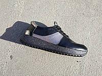 Стильные женские черные кожаные кроссовки 36-40 р-р