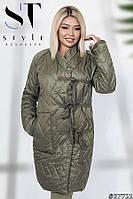 Пальто батал весеннее из стеганной плащевки (4 цвета)ВШР40091058