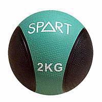 Медицинский мяч Spart CD8037-2 кг черно-зелёный