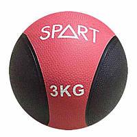 Медицинский мяч Spart CD8037-3 кг черно-пурпурный