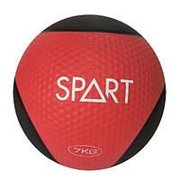 Медицинский мяч Spart CD8037-7 кг черно-красный