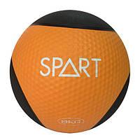 Медицинский мяч Spart CD8037-8 кг черно-оранжевый